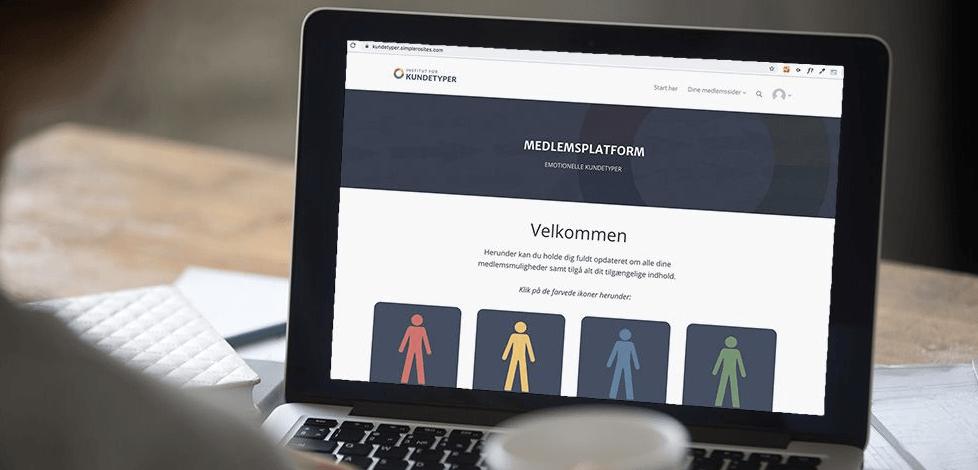 kundetyper hjemmeside på bærbar